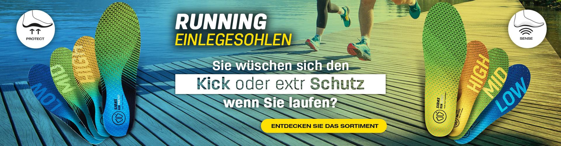 Auf der Suche nach Empfindungen oder Schutz beim Laufen? Finden Sie Ihre Einlegesohlen!