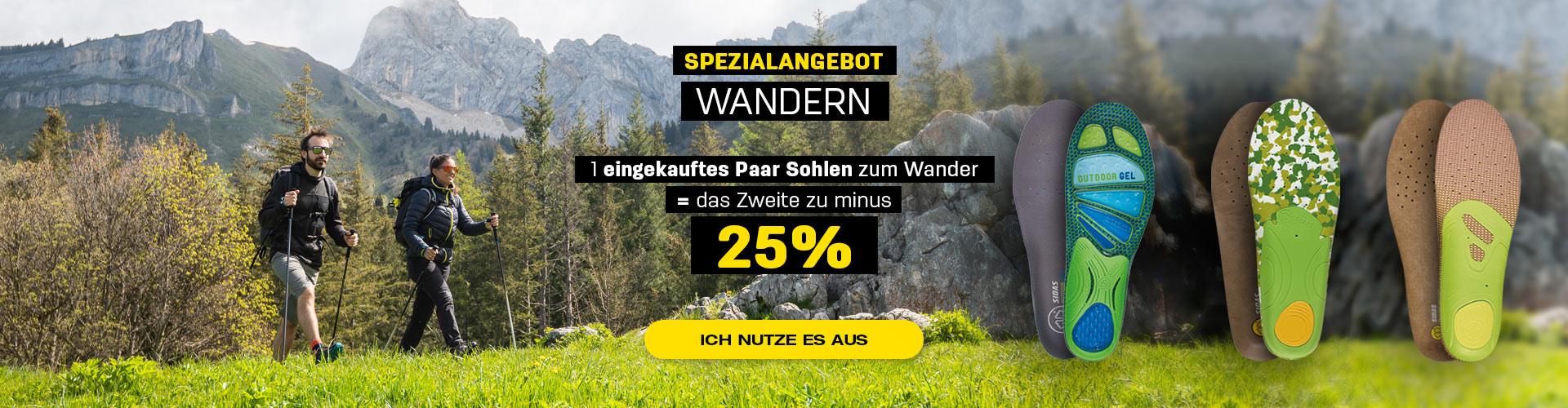 Sonderangebot : Kaufen Sie 1 Outdoor-Einlegesohle und erhalten Sie die zweite mit 25% Rabatt
