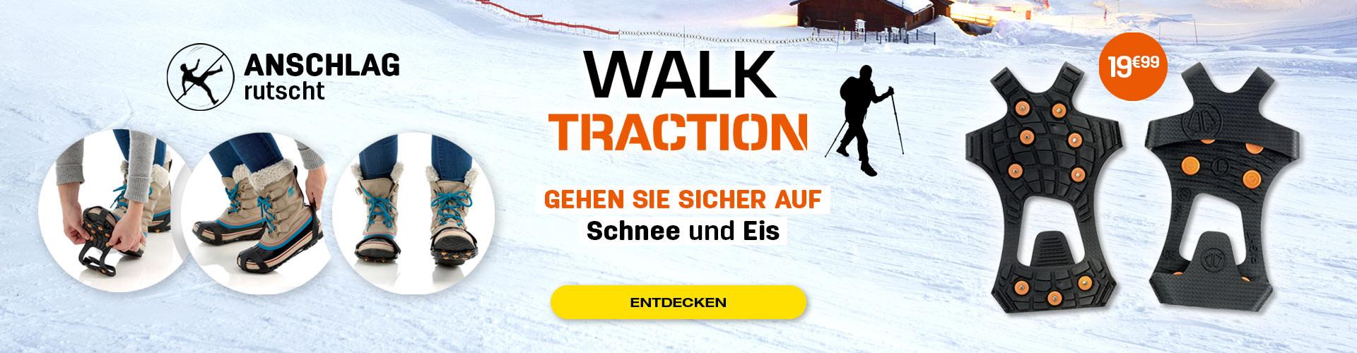 Hör auf zu rutschen während deiner Spaziergänge in den Bergen und im Schnee!
