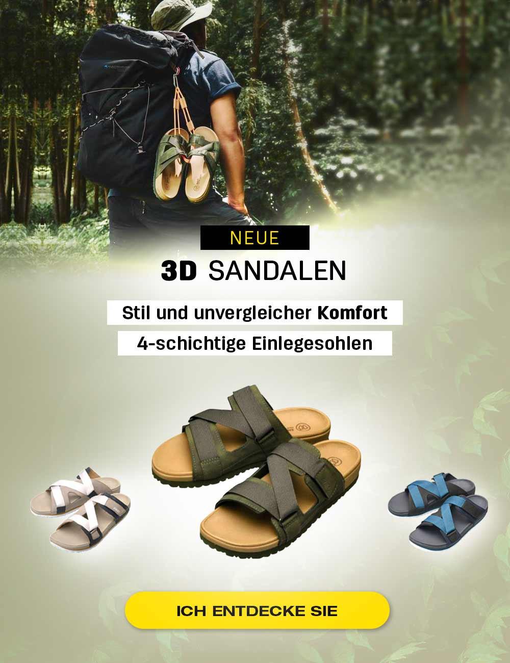 Stilvolle und bequeme 3D Sandalen mit 4-schichtigen Einlegesohlen