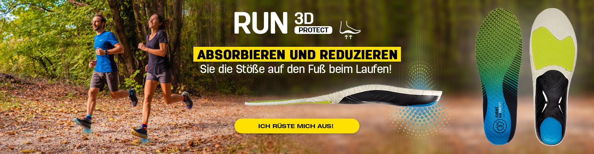 Absorbieren und reduzieren Sie die Stöße auf den Fuß beim Laufen!