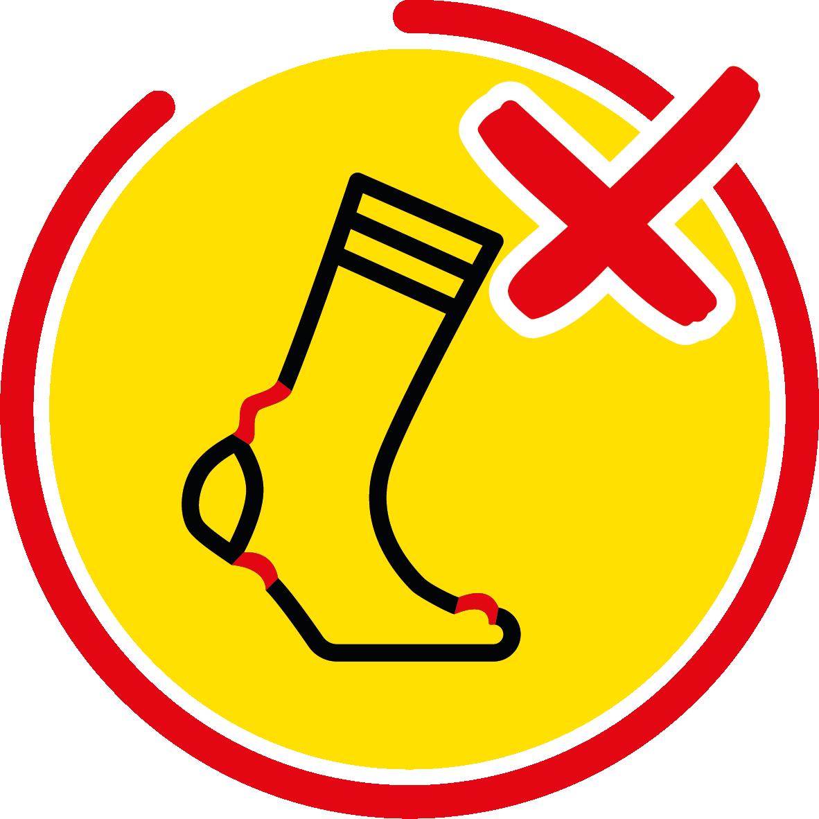 Eviter les plis de chaussettes