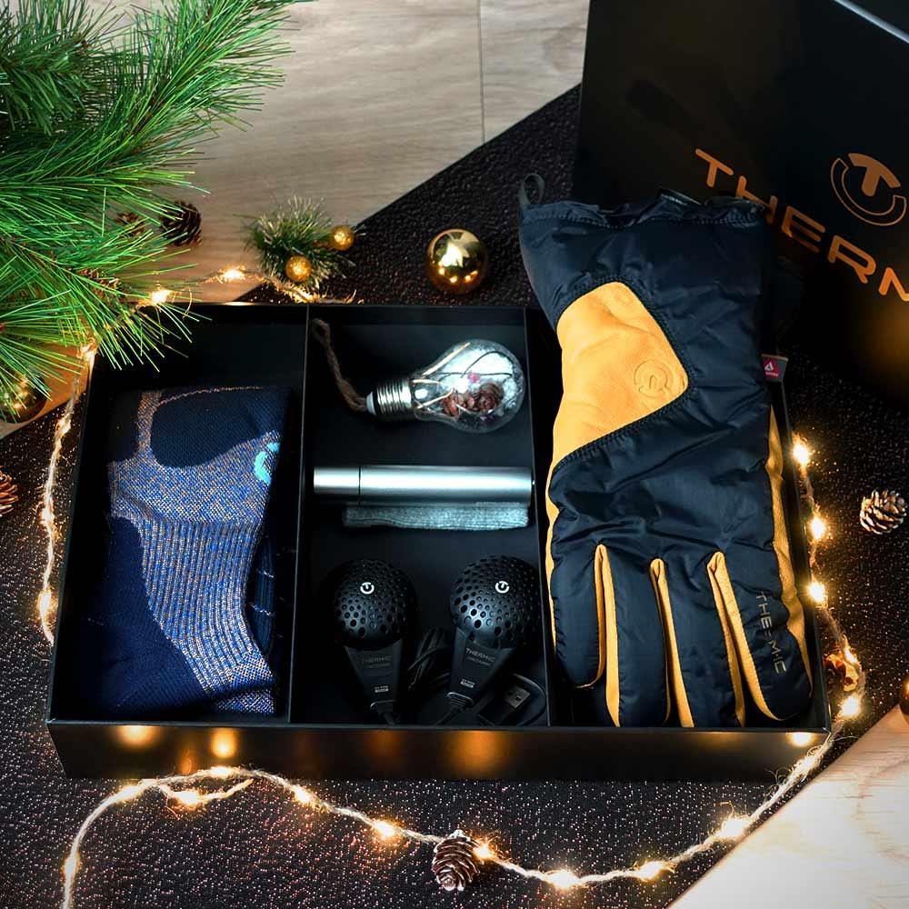 Coffret Noël gants et chaussettes isolantes Thermic