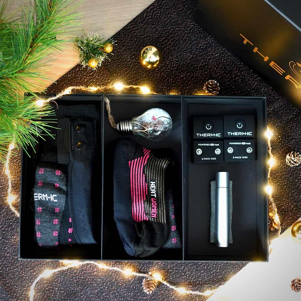 Coffret de Noël chaussettes chauffantes femme Therm-ic