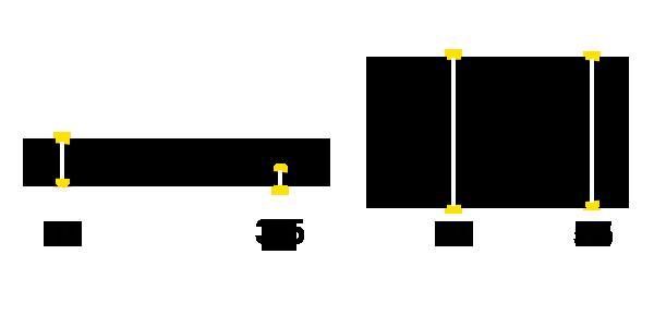 Dimensions Gel heel pads