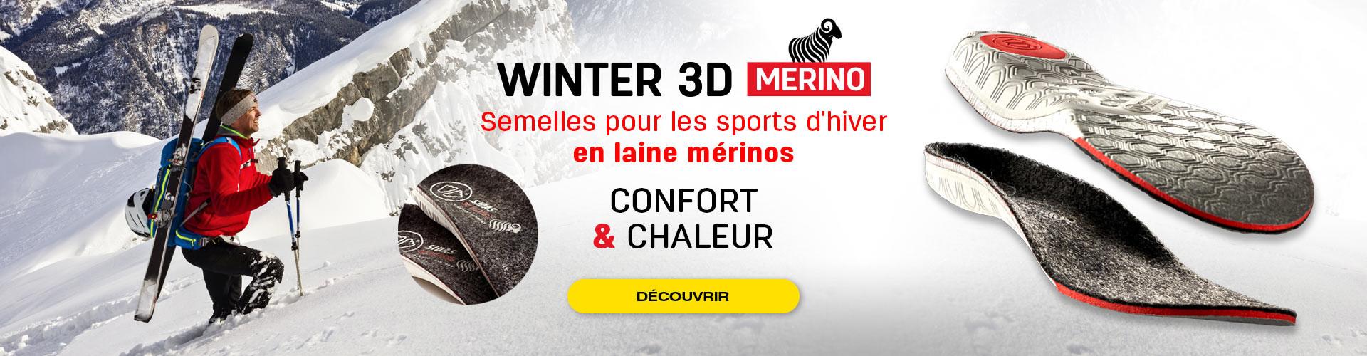 Confort et isolation des pieds pour les sports d'hiver