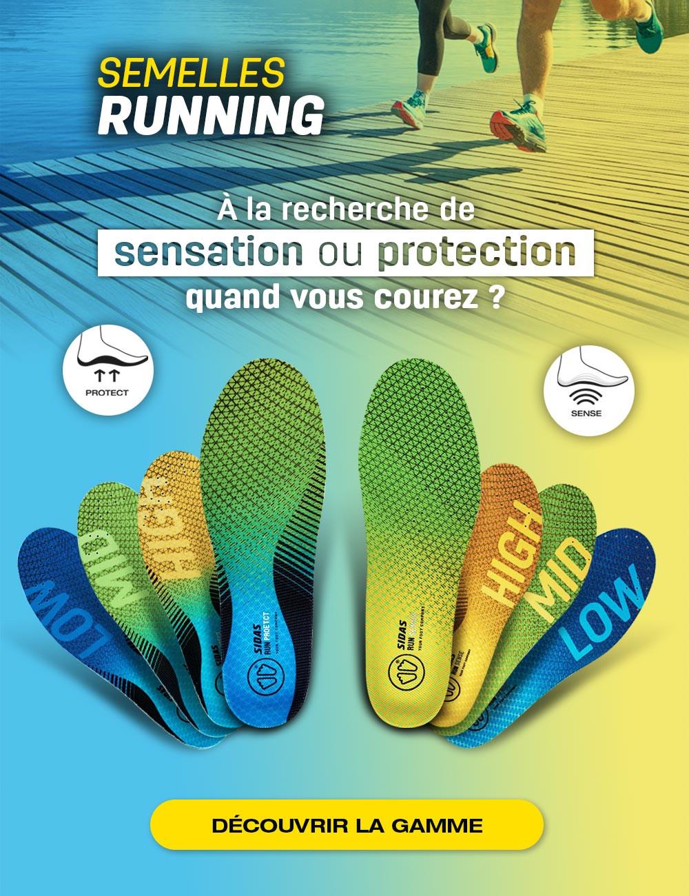 Êtes-vous à la recherche de sensation ou protection quand vous courez ? Découvrez votre semelle adaptée
