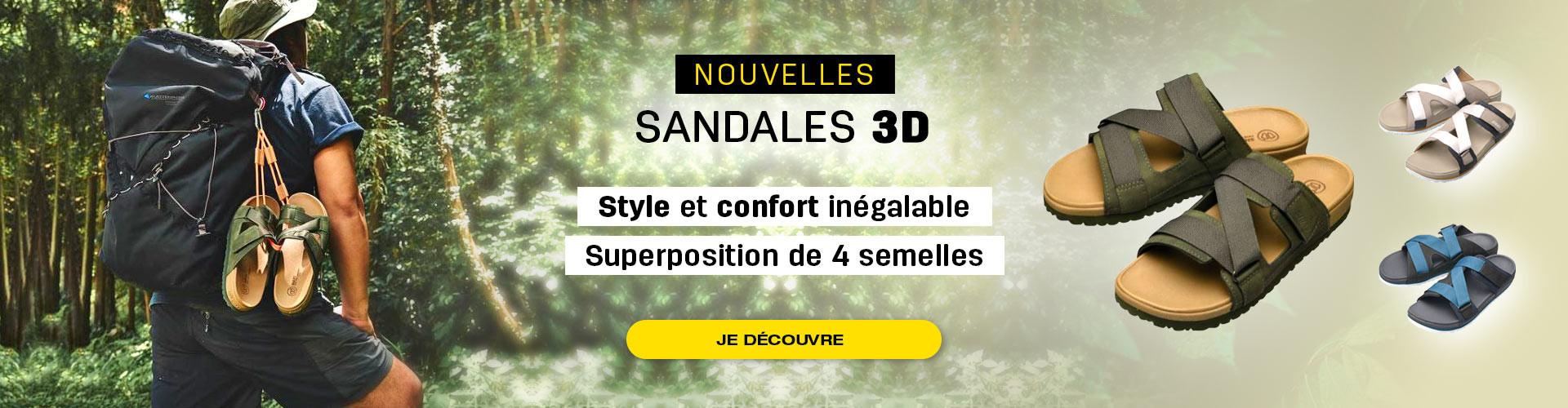 Sandales 3D avec semelles 4 couches alliant confort et style