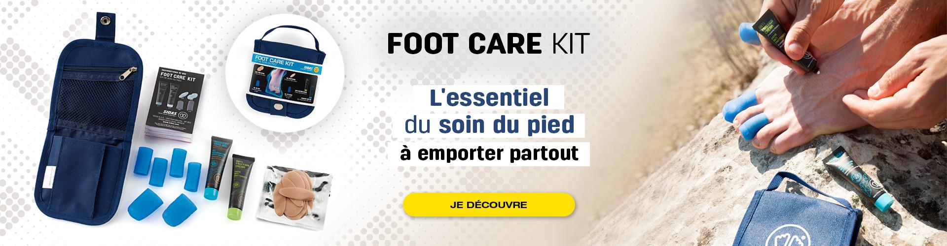Découvrez le footcare kit : à emporter partout avec vous pour éviter les douleurs aux pieds durant vos activités sportives !