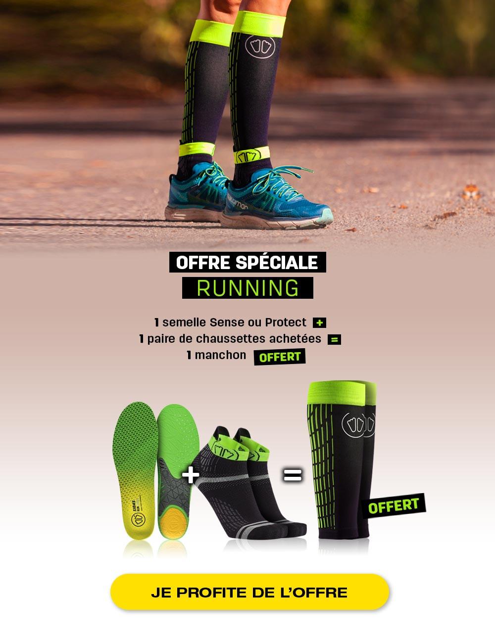 Offre running : Profitez d'une offre spéciale sur nos semelles running 3D ou 3Feet !