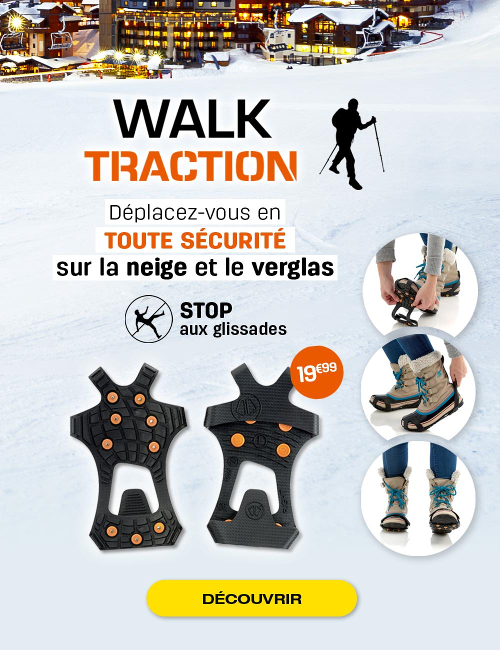 Stop aux glissades lors de vos balades en montagne et dans la neige !