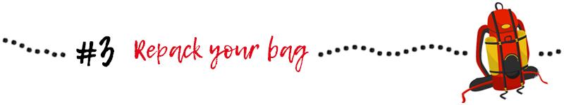 GR20 tips : repack your bag
