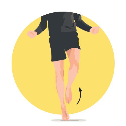 Corde à sauter pour renforcement du pied