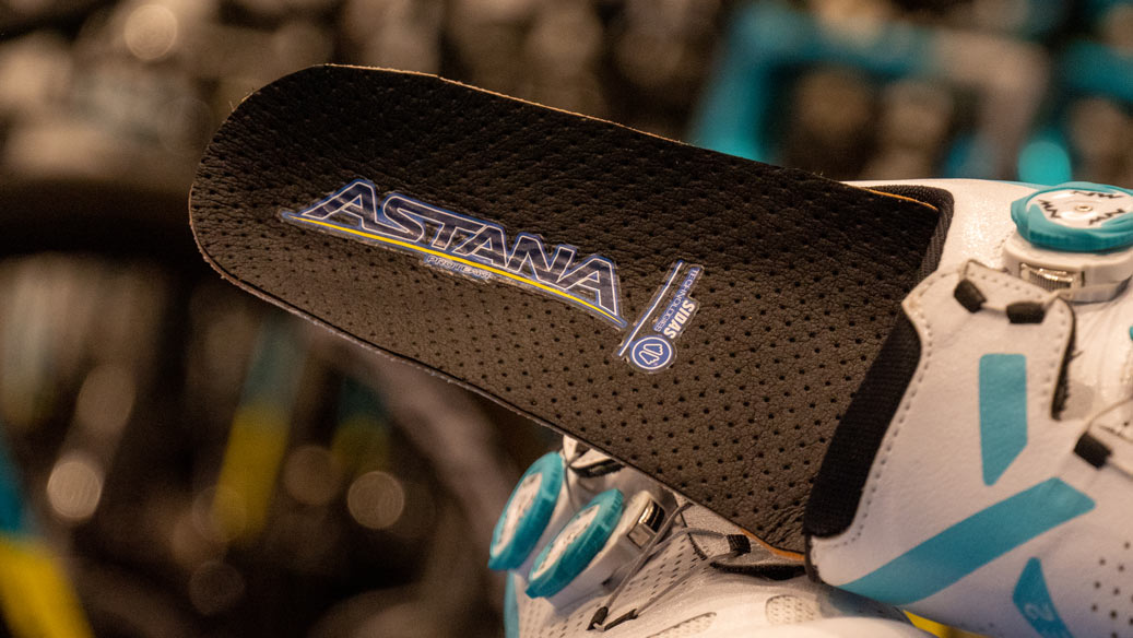 Semelles vélo, team Astana