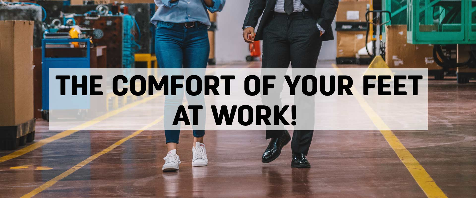 Confort of your feet at work thanks to gel insoles