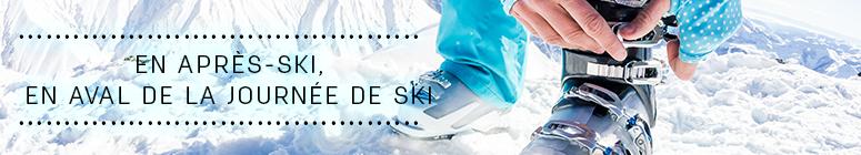 En après-ski, en aval de la journée de ski