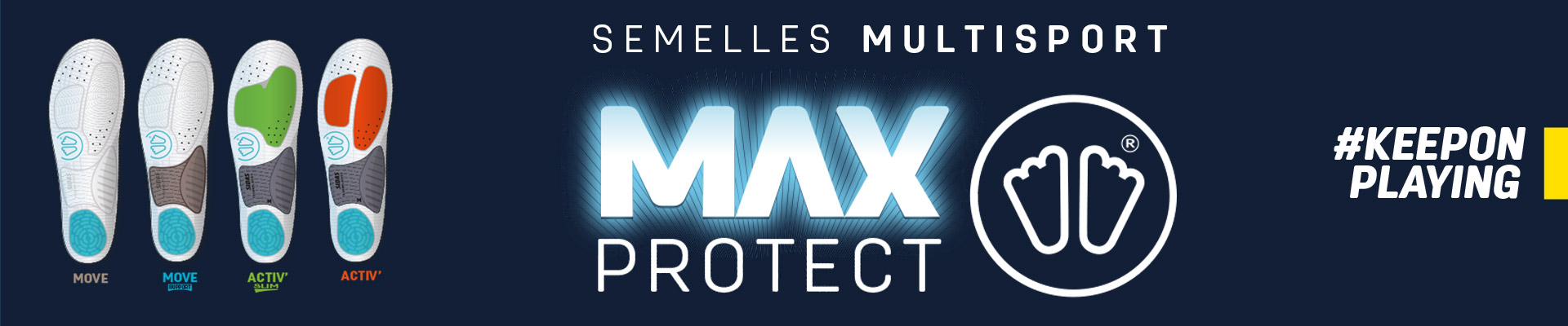 Semelles Multi-sports anti-chocs Max Protect