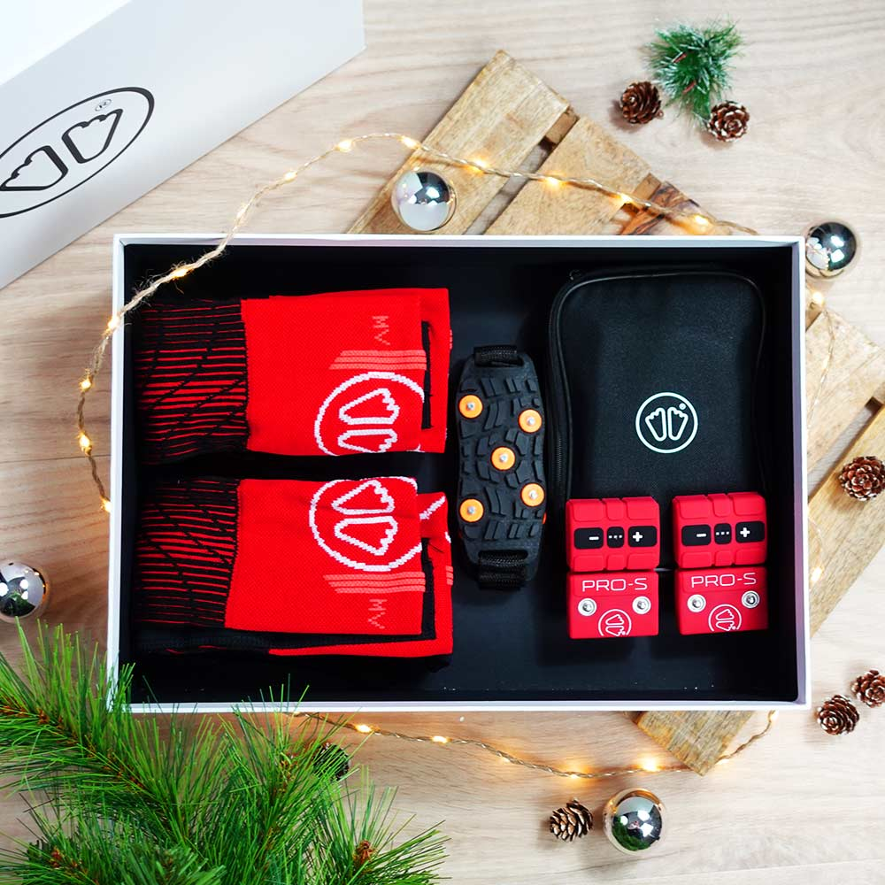 Christmas ski heated socks box