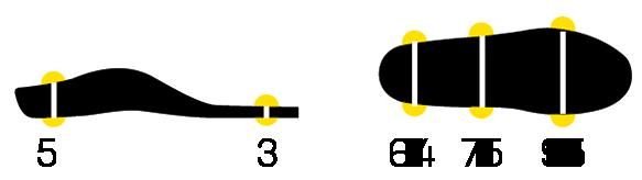 Dimensions semelle Move Activ' slim