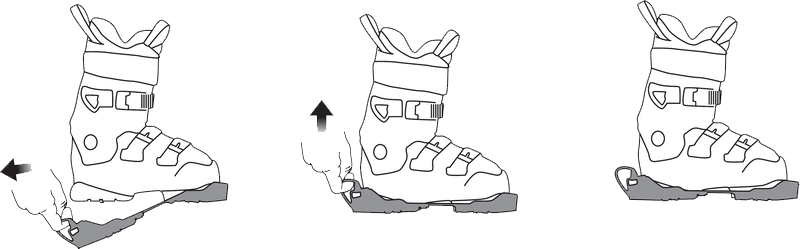 mise en place des ski boot traction sidas