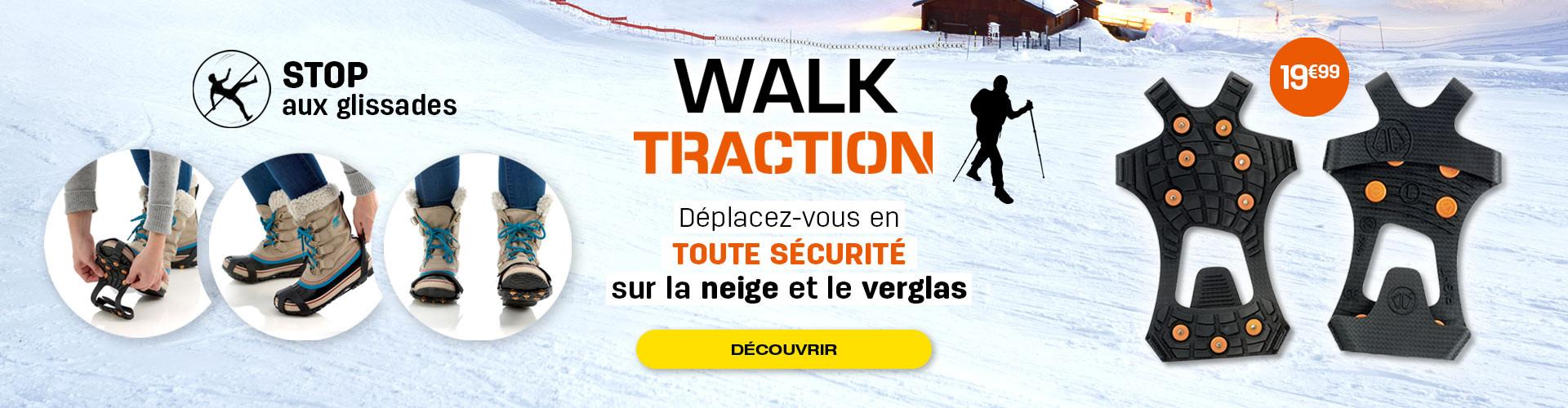 Dîtes stop aux glissades sur la neige et le verglas grâce aux Walk Traction