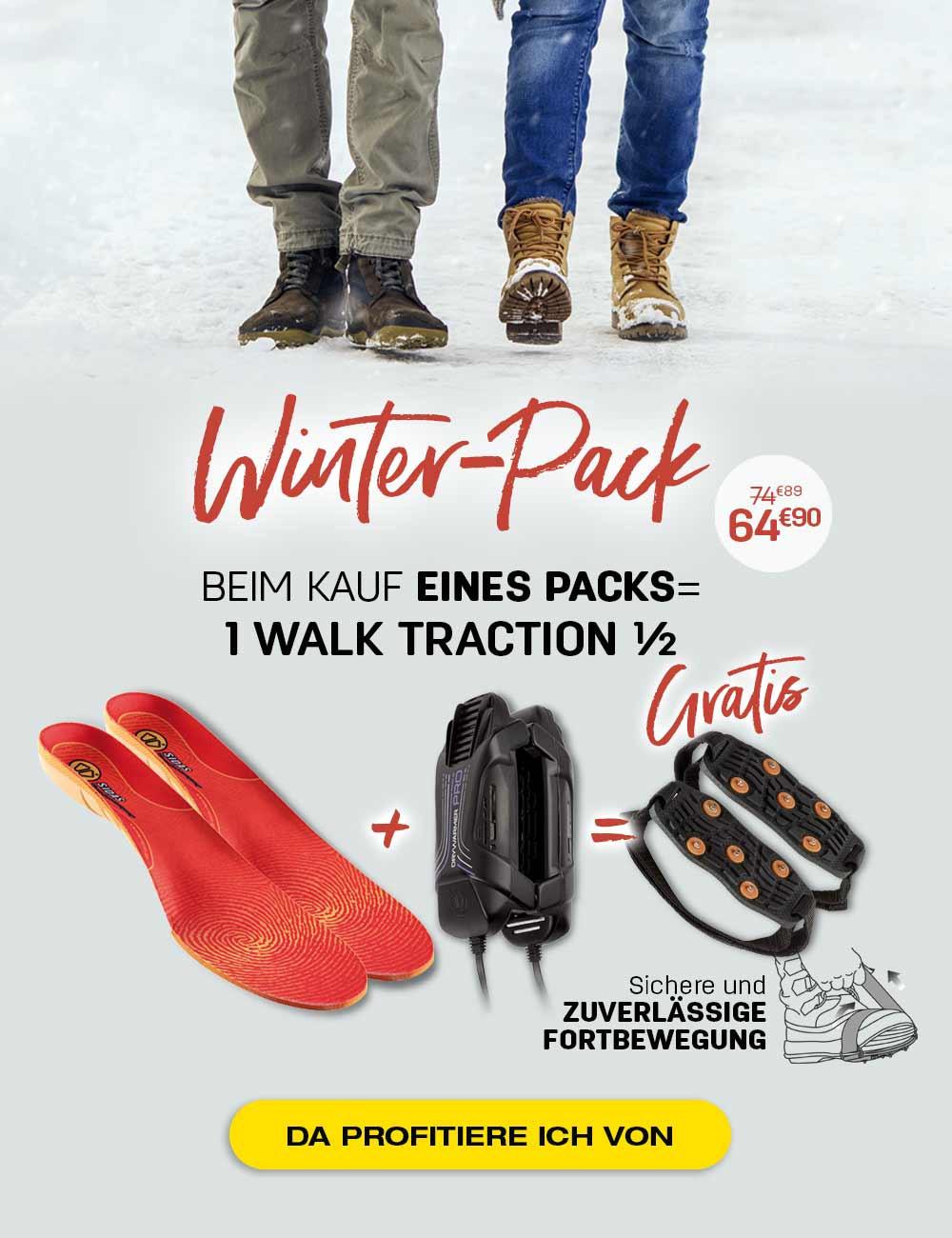 Pack Winter bestehend aus 3D Winter, Drywarmer Pro und einem kostenlosen Walk Traction 1/2