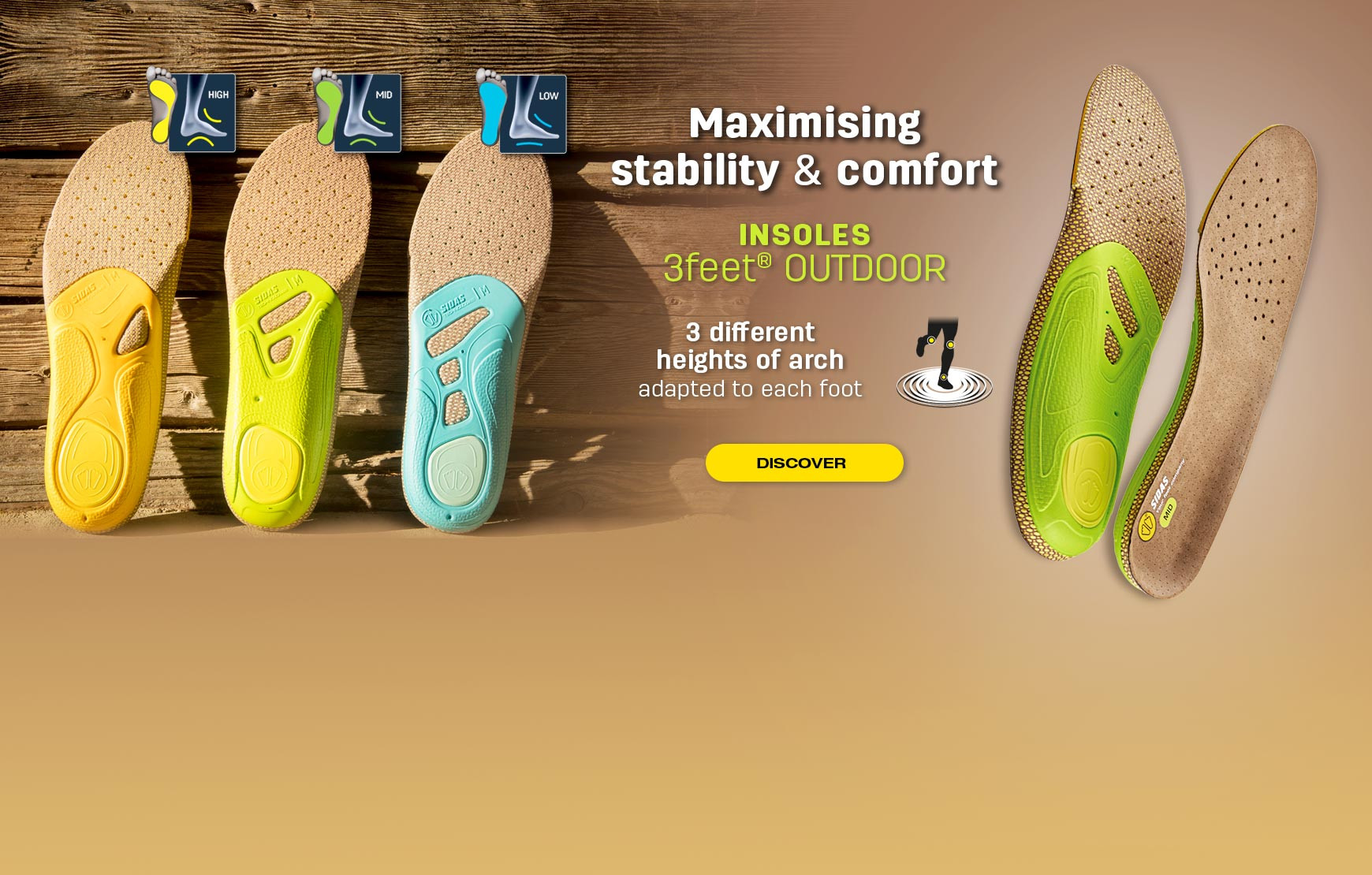 Discover our insoles 3Feet® Outdoor, made for hiking