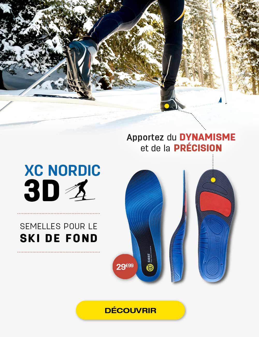 Apportez du dynamisme et de la précision grâce à la semelle 3D XC Nordic