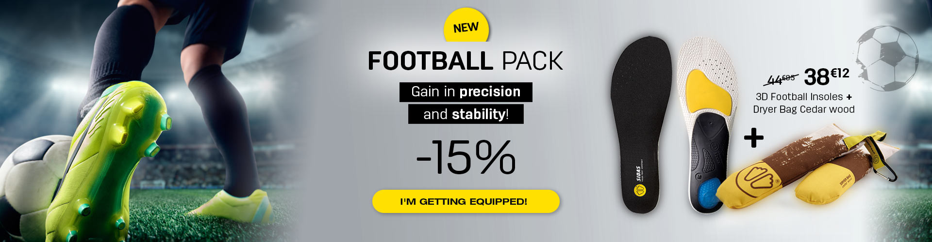 The best football pack to gain in comfort and precision !