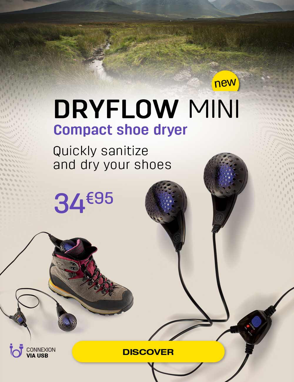 Quickly sanitize and dry your shoes!