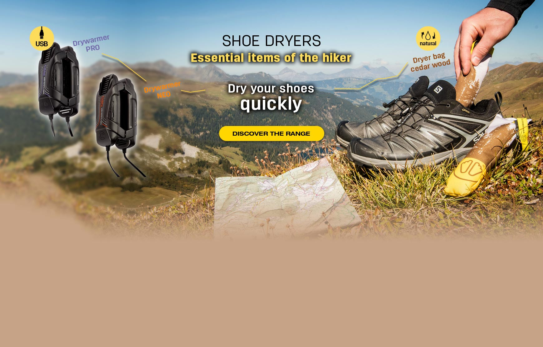 Dry your shoes quickly thanks to the dryers SIDAS