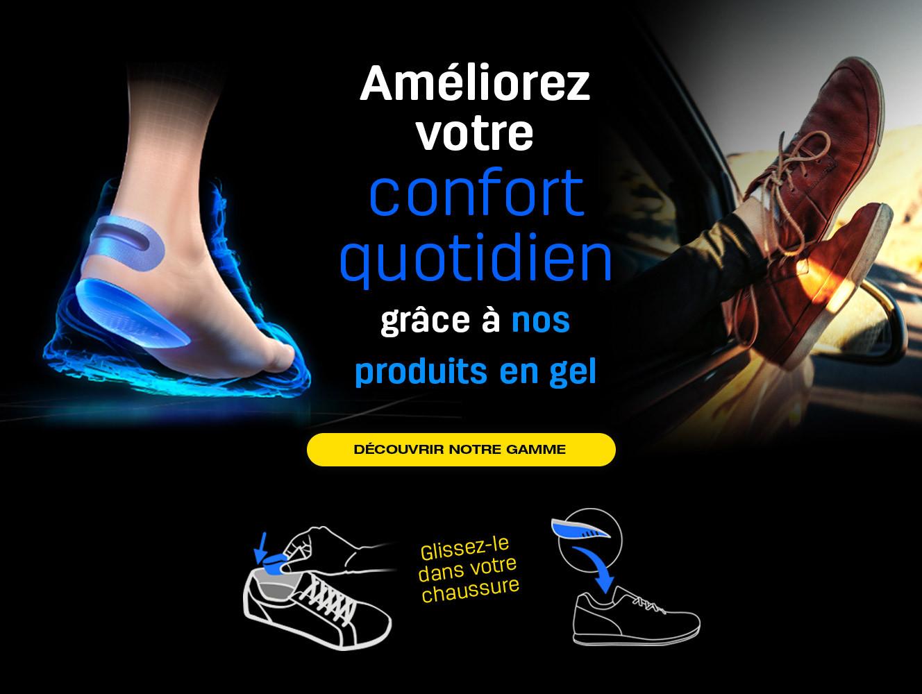 Les produits en gel parfaits pour améliorer le confort quotidien dans la chaussure