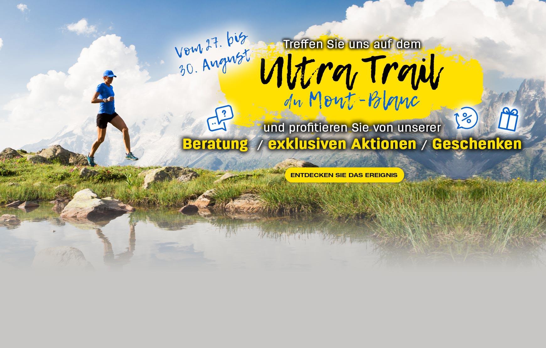 Besuchen Sie uns vom 27. bis 30. August auf der Mont Blanc Ultra Trail Show