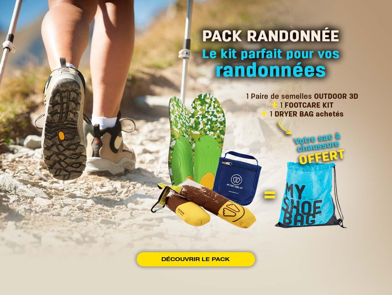Pour l'achat d'un pack randonnée, nous vous offrons votre sac à chaussures !