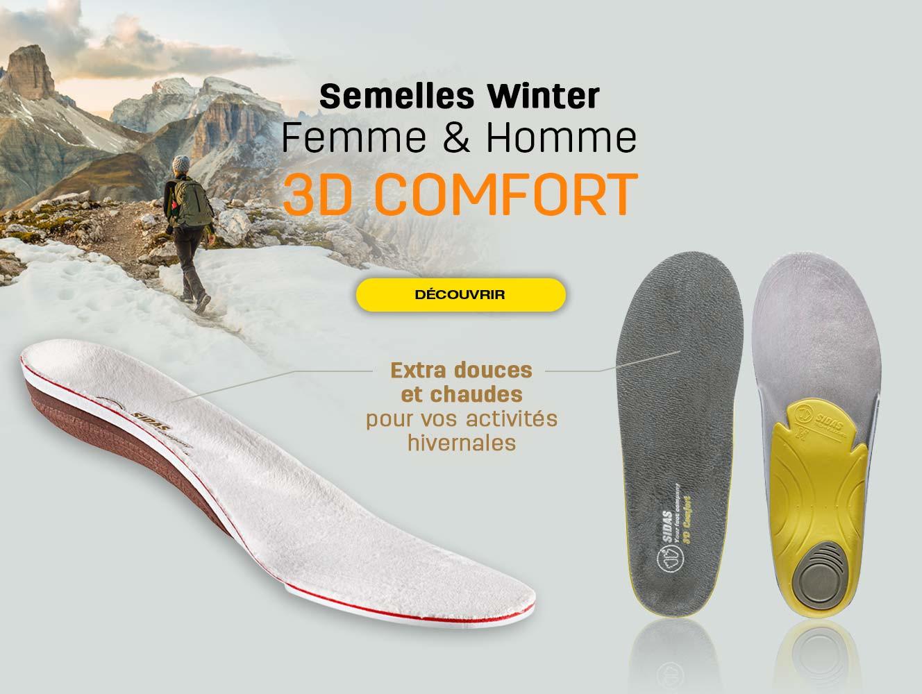 Les semelles extra douces et chaudes pour vos activités hivernales