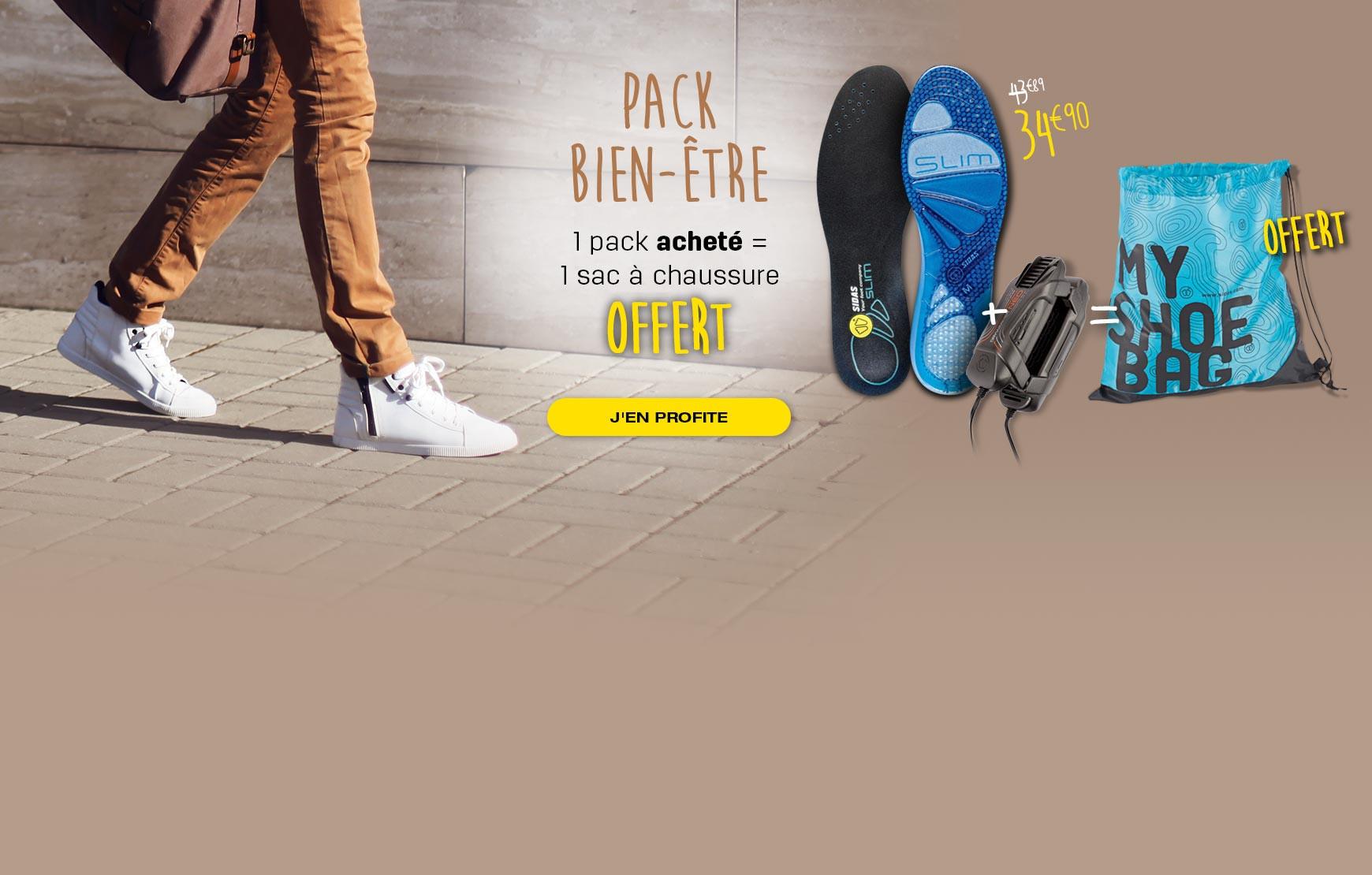 Votre sac à chaussures offert pour l'achat d'un pack bien-être