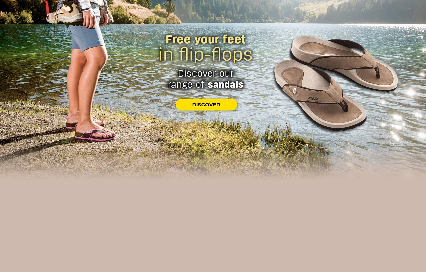 Discover our range of sandals and flip-flops