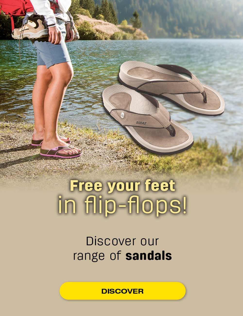 Free your feet in flip-flops!