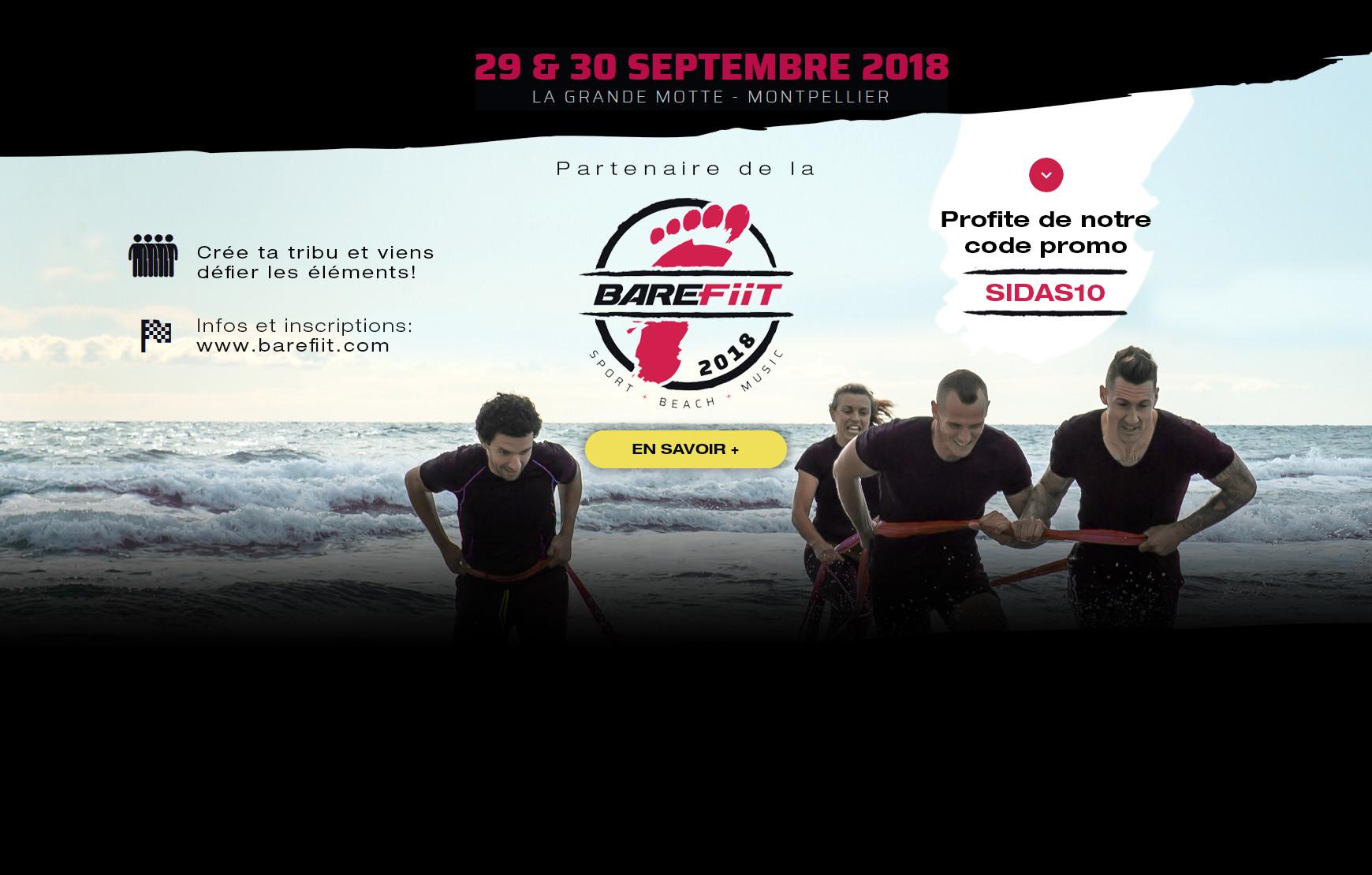 Retrouvez-nous sur la course d'obstacles BAREFiiT le 29 et 30 septembre !