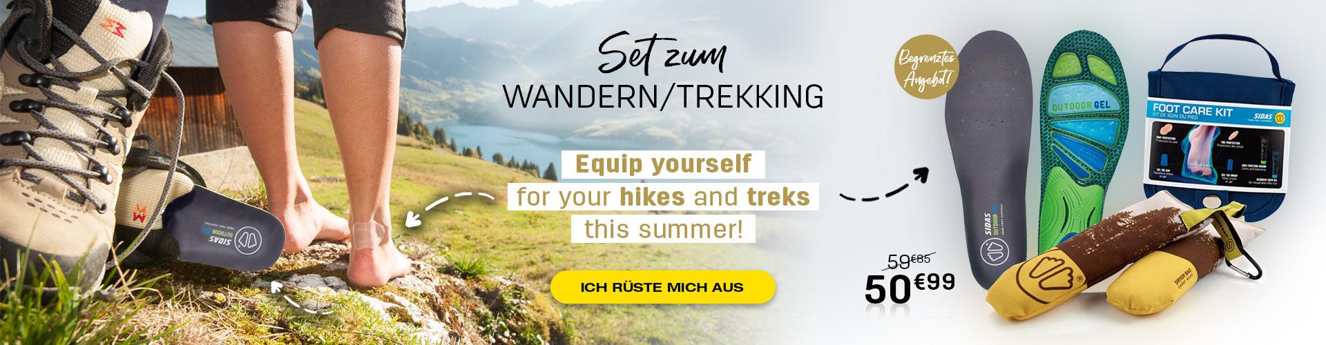 Rüsten Sie sich für Ihre Wanderungen und langen Spaziergänge in diesem Sommer aus!