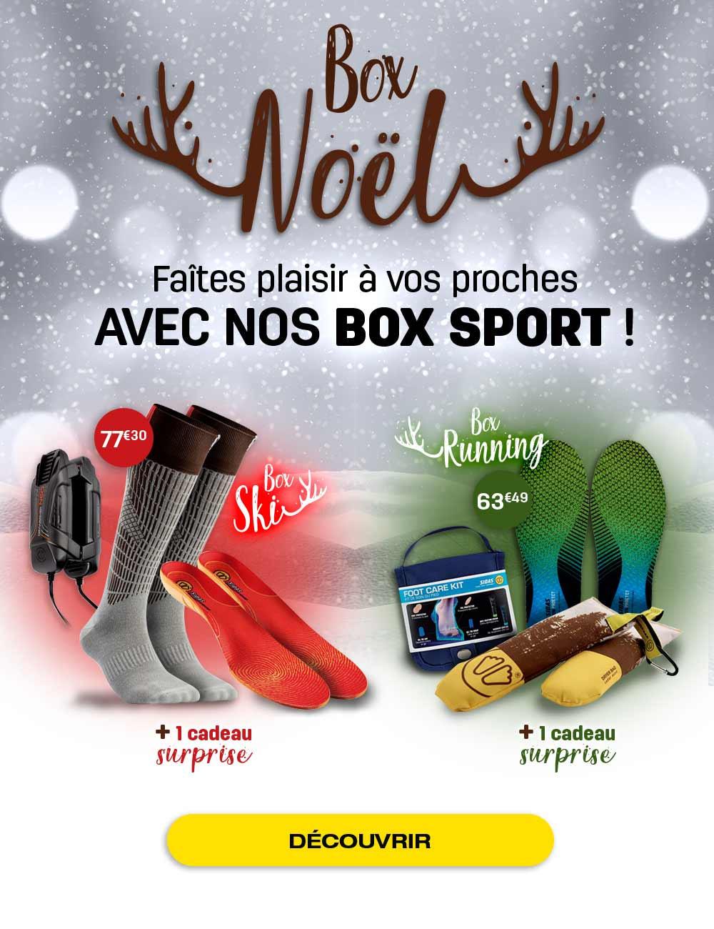 Découvrez nos box de Noël running ou ski !