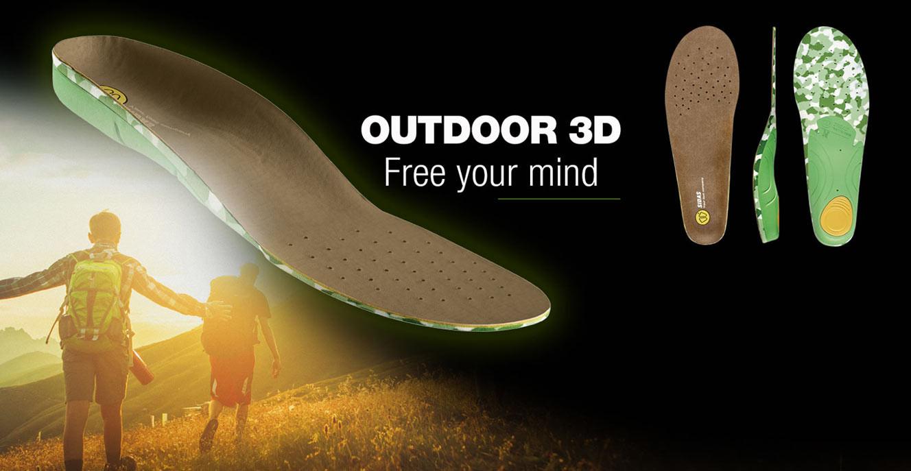 Anatomische Einlagesohlen Outdoor 3D
