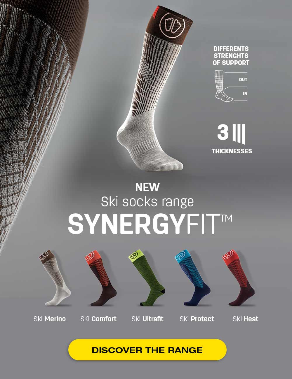 Discover ou new SynergyFit ski socks, adapted to your needs!