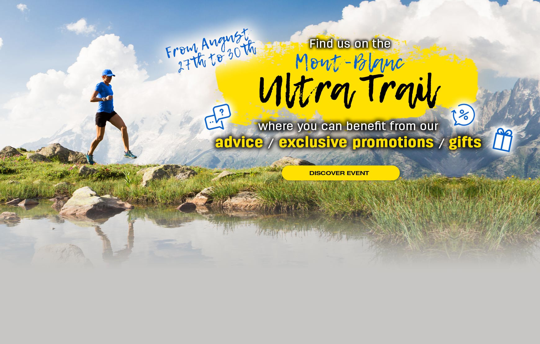 From August 27 to 30, find us at the Mont Blanc Ultra Trail show