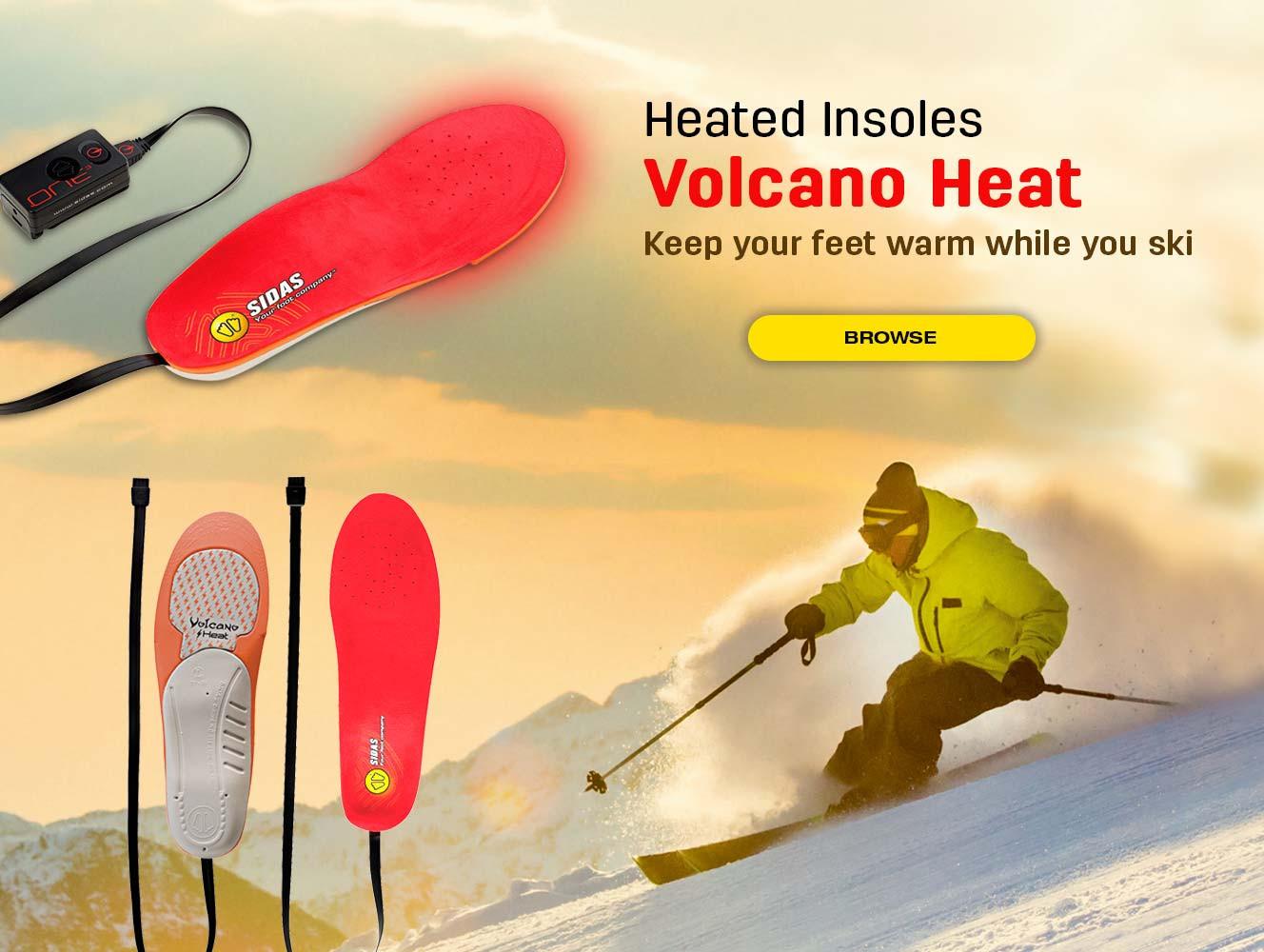 Keep your feet warm while you ski