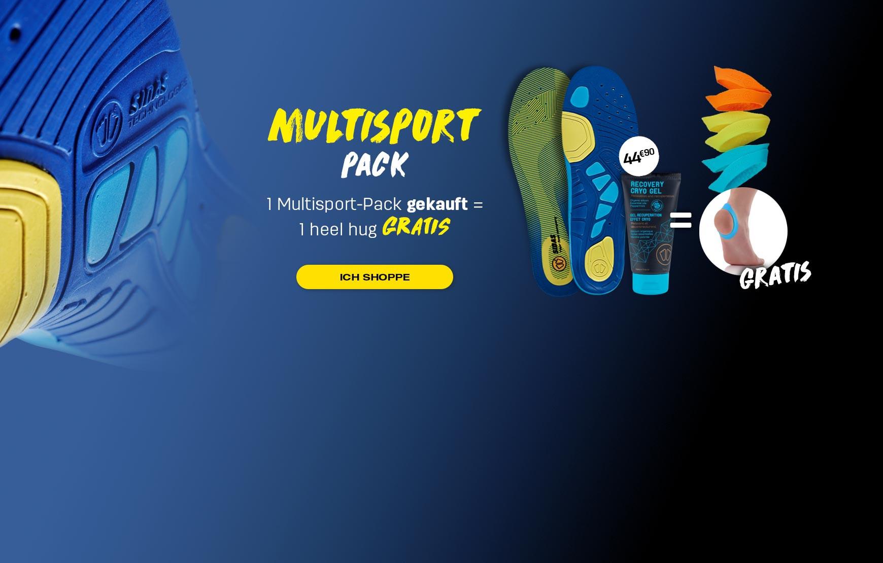Genießen Sie unser Multisportpaket und verschenken Sie Ihre Fersenumarmung!