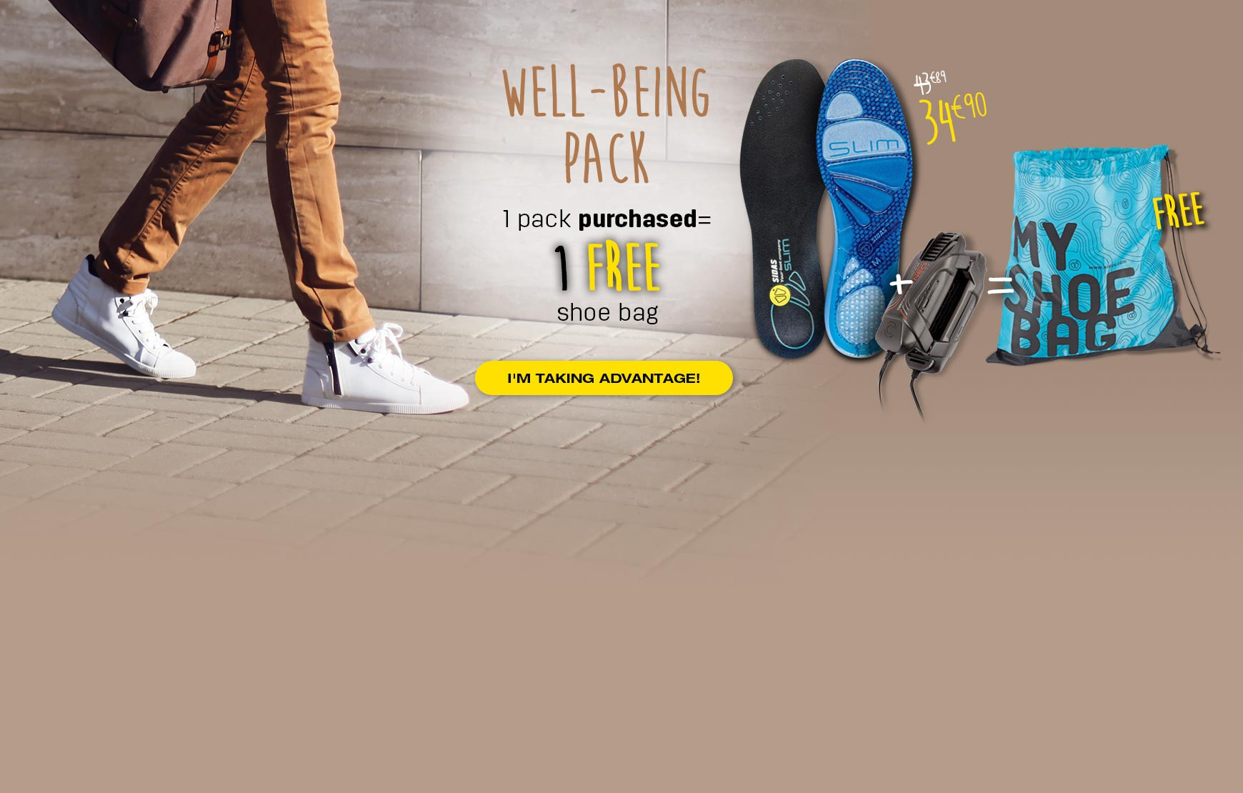 Get your free shoe bag when you purchased a well-being pack
