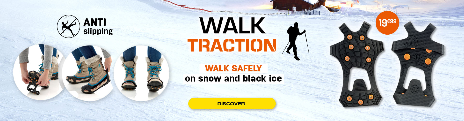 Walk safely on snow and black ice thanks to Walk Tractions