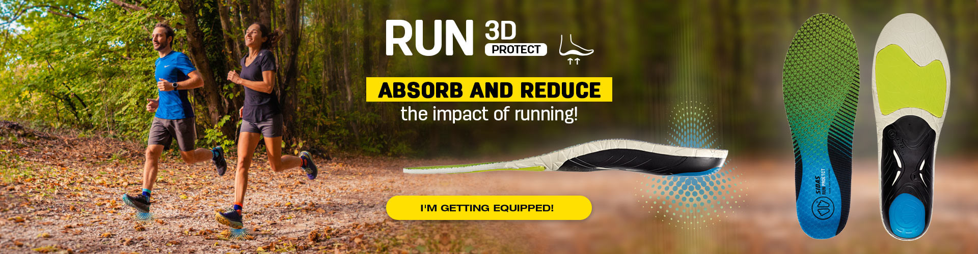 Absorb and reduce the impact of running thanks to 3D Protect insoles!