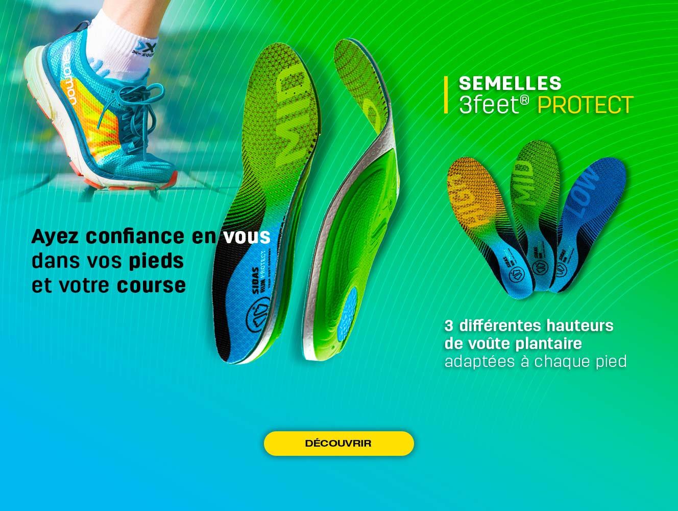 Découvrez notre nouvelle gamme de semelles running Protect adaptées à votre type de pied